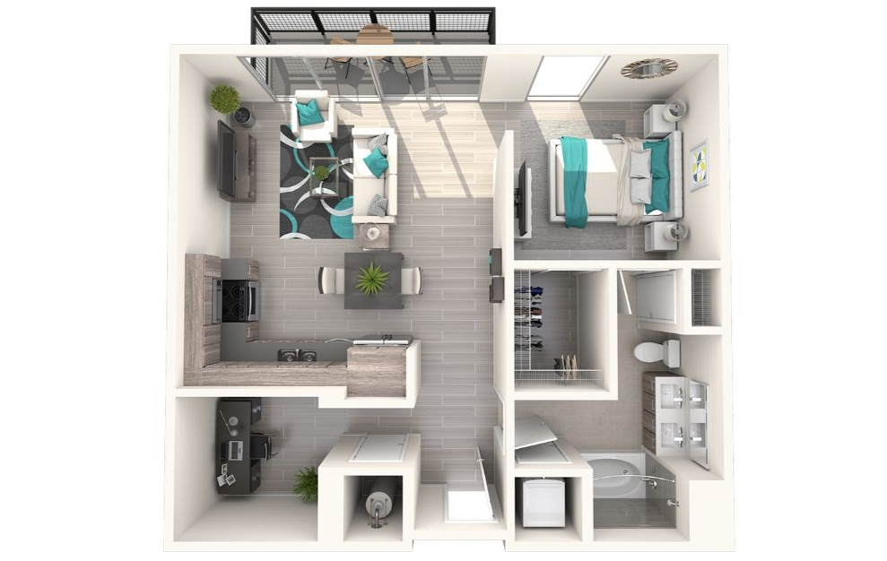 Eve at The District 1 Bedroom 1 Bath 765sqft