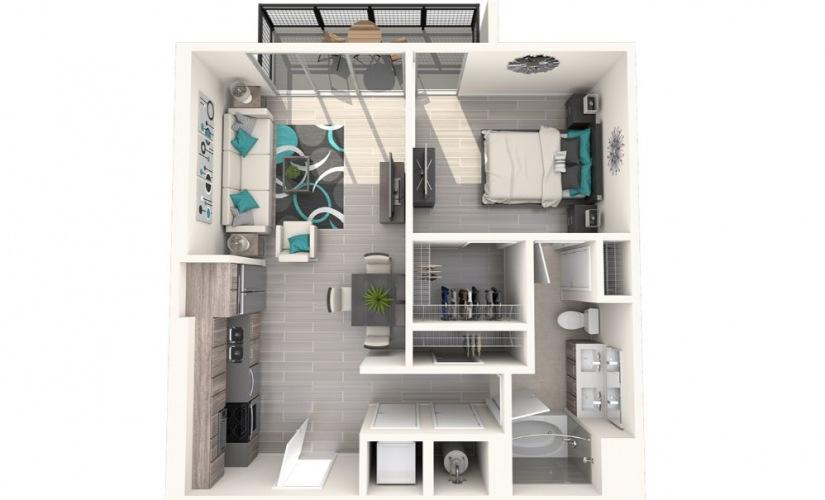 1 2 3 Bedroom Highrise Apartments In Miami Fl Floor Plans