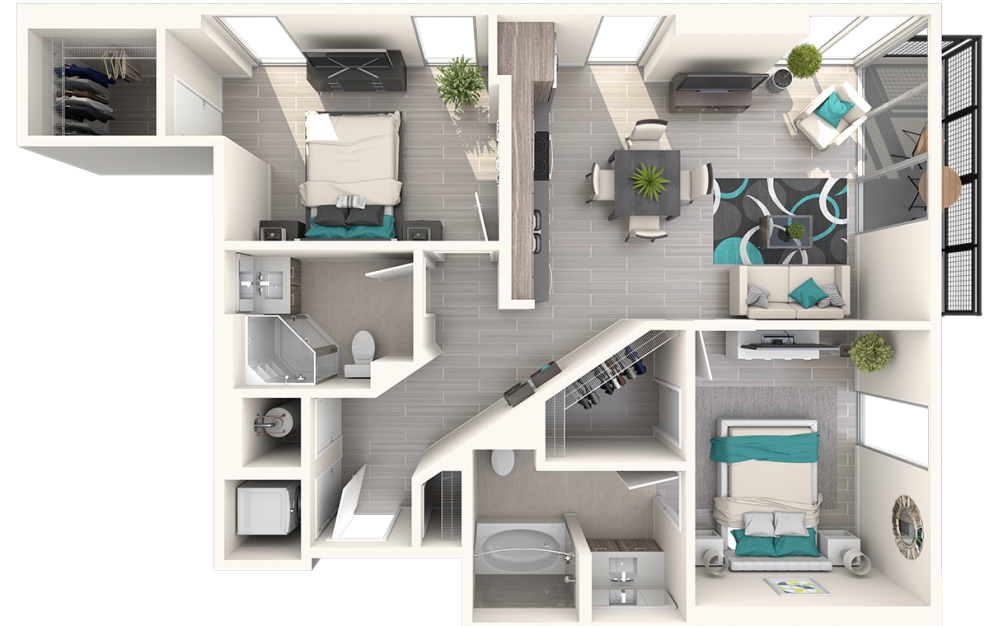 Eve at The District 2 Bedroom 2 Bath 1021sqft